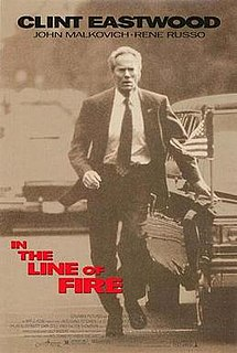 <i>In the Line of Fire</i> 1993 thriller movie directed by Wolfgang Petersen