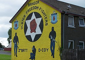 Ulster Defence Association - A UFF mural in the Kilcooley estate in Bangor