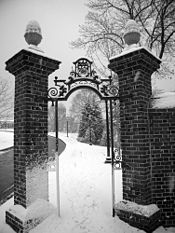 Gate Entering Homewood Campus at the Johns Hopkins University