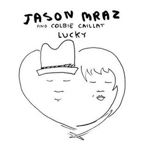 Lucky (Jason Mraz and Colbie Caillat song) - Image: Jason Mraz Lucky (Official Single Cover)