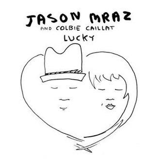 Lucky (Jason Mraz and Colbie Caillat song) - Image: Jason Mraz Lucky (Official Single Cover)