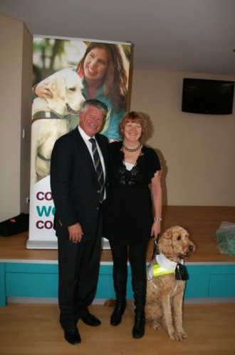 Labradoodle - Jonnie, the first labradoodle guide dog to graduate from Association for the Blind of Western Australia.