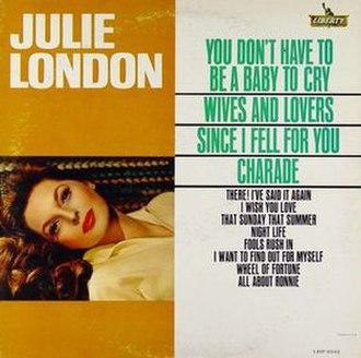 Julie London (album) - Image: Julie London (Julie London album) cover