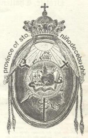 Augustinian Province of Santo Niño de Cebu - Logo of the Province of Sto. Niño de Cebu, Philippines ca. 1983