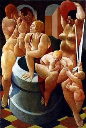 Lorser Feitelson - Lorser Feitelson, The Fountain, 1923, oil on canvas. ©The Feitelson/Lundeberg Art Foundation