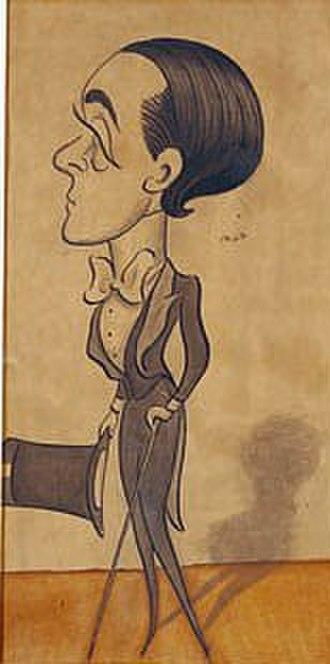 Max Beerbohm - Max Beerbohm, self-caricature (1897)