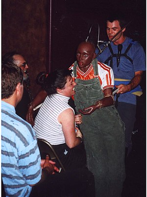 Michael Leavitt (artist) - M.Leavitt, Interactive Puppetry, 2001 performance.