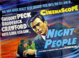 Night People (film) - 1954 British movie poster