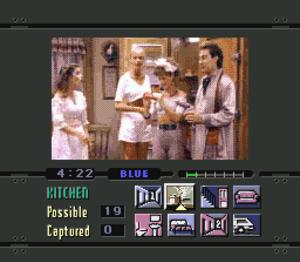 Night Trap - Screenshot of the Sega CD version, showing the user interface