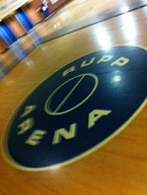 Rupp Arena - The old center court welcomes fans in the main lobby of Rupp Arena