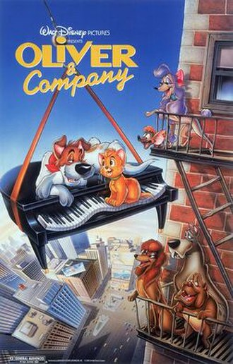 Oliver & Company - Original theatrical release poster