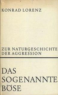 <i>On Aggression</i> 1963 book by Konrad Lorenz
