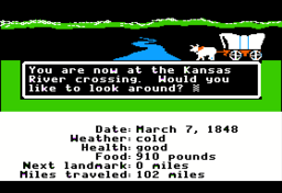 The Oregon Trail 1985 Video Game Wikipedia