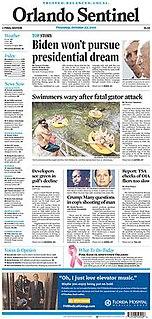 <i>Orlando Sentinel</i> Newspaper in Orlando, Florida, US