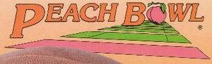 1986 Peach Bowl - 1986 Peach Bowl logo