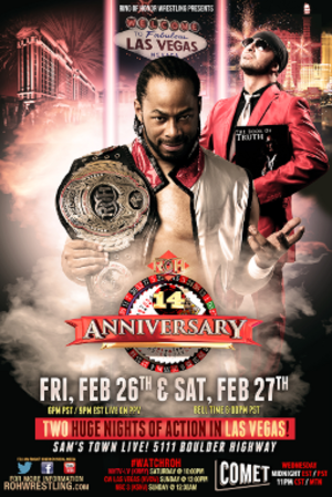 ROH 14th Anniversary Show - Official poster featuring Jay Lethal with his manager Truth Martini