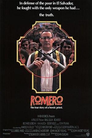 Romero (film) - Image: Romero (1989, film poster)