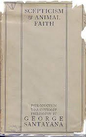 Scepticism and Animal Faith - Dustjacket of the first edition