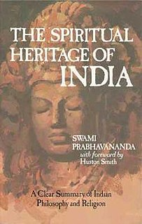 <i>Spiritual Heritage of India</i> (book) A book written by Swami Prabhavananda
