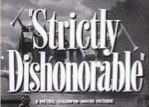 Strictly Dishonorable (1951 film) - title card
