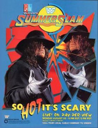 SummerSlam (1994) - Promotional poster, showcasing The Undertaker