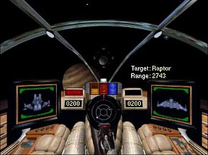 Wing Commander (video game) - Screenshot showing vastly improved graphics.