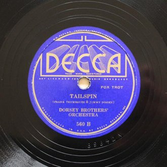 Tailspin (1934 song) - 1935 Decca 78, 560B, by The Dorsey Brothers' Orchestra.