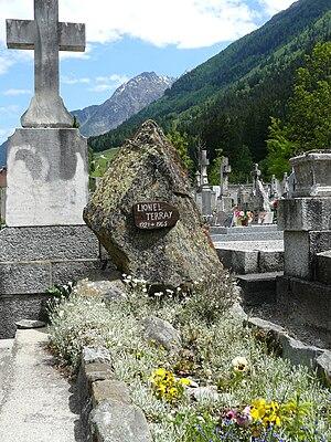 Lionel Terray - Terray's grave in Chamonix