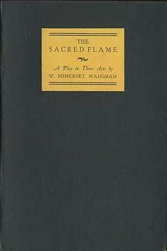 The Sacred Flame (play) - First UK edition (publ Heinemann)