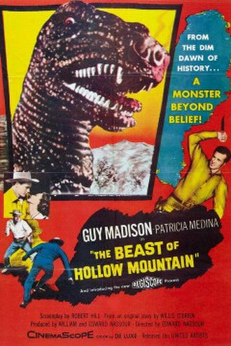 The Beast of Hollow Mountain - Theatrical release poster