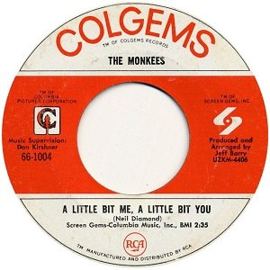 A Little Bit Me, a Little Bit You - Image: The Monkees single 03 A Little Bit Me a Little Bit You