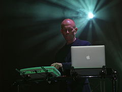 Clarke with Erasure in a performance at Oulton Park Race Circuit, UK on 1  August 2014
