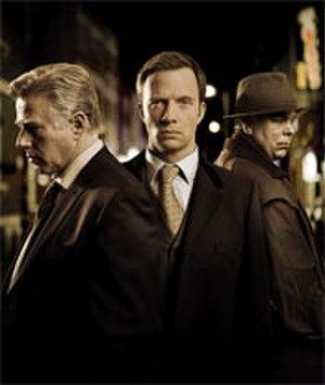 Whitechapel (TV series) - The show's main cast: Phil Davis, Rupert Penry-Jones and Steve Pemberton