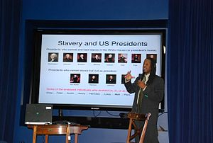 The Black History of the White House - Lusane speaks to White House staff