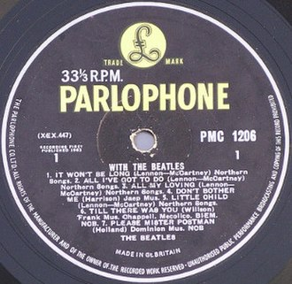Parlophone - Image: With the beatles side 1