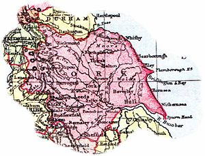 History of local government in Yorkshire - 1904 map of Yorkshire