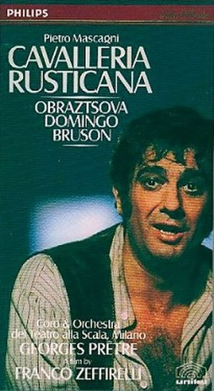 Cavalleria rusticana (1982 film) - VHS cover with Plácido Domingo