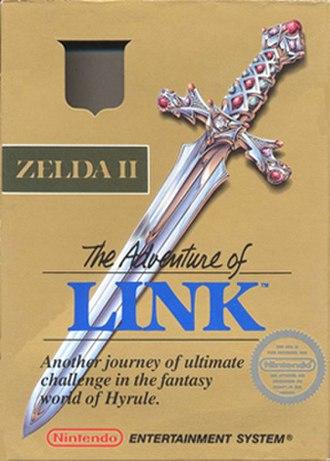 Zelda II: The Adventure of Link - North American box art