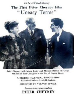 <i>Uneasy Terms</i> 1948 film by Vernon Sewell