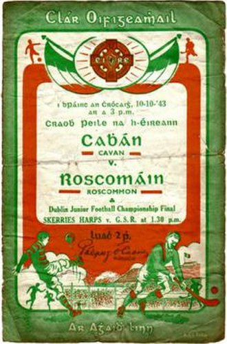 1943 All-Ireland Senior Football Championship Final - Image: 1943 All Ireland Senior Football Championship Final replay programme