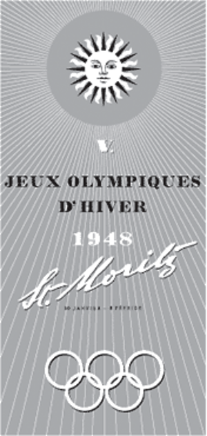 1948 Winter Olympics - Image: 1948 Winter Olympics logo
