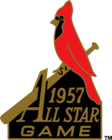 1957 Major League Baseball All-Star Game logo.png