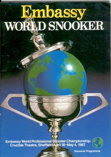 1987 World Snooker Championship Snooker tournament, held 1987