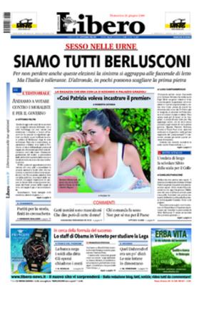 Libero (newspaper) - Image: 20090622 libero frontpage