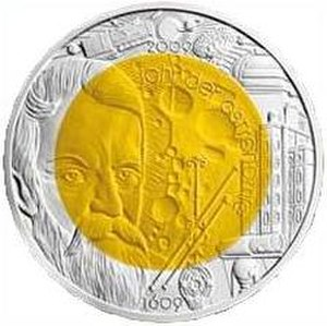 Isaac Newton Telescope - International Year of Astronomy commemorative coin featuring the Isaac Newton Telescope.
