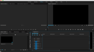 Adobe Premiere Pro CC running on OS X El Capitan