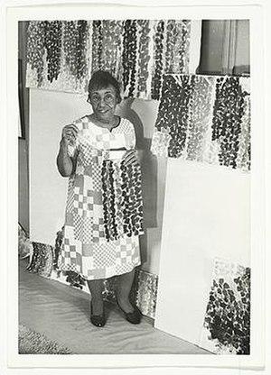 Alma Thomas - Alma Thomas in her studio, ca. 1968