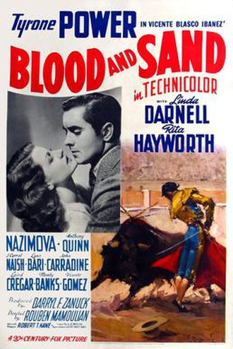 Blood and Sand (1941 film) - Original film poster