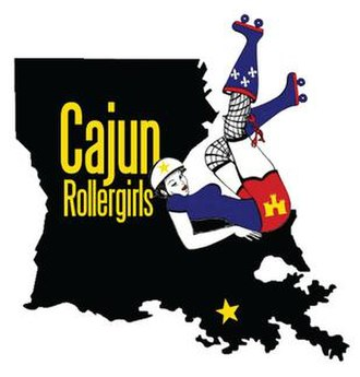 Cajun Rollergirls - Historical CRG alternate logo