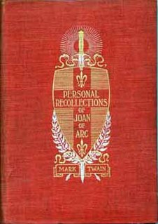 <i>Personal Recollections of Joan of Arc</i> novel by Mark Twain